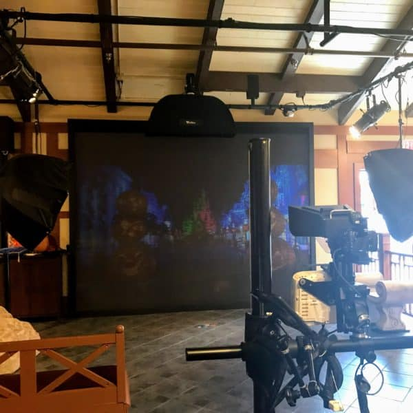 Virtual backdrop