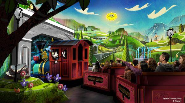 Mickey and Minnies Runaway Railway concept art