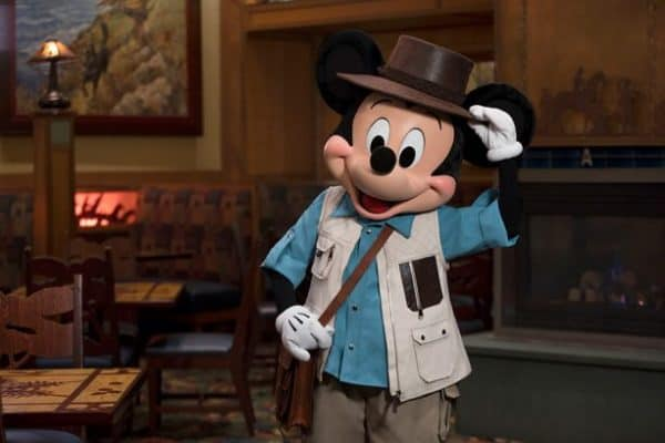 Mickey's Tale of Adventure character dining at Grand Californian