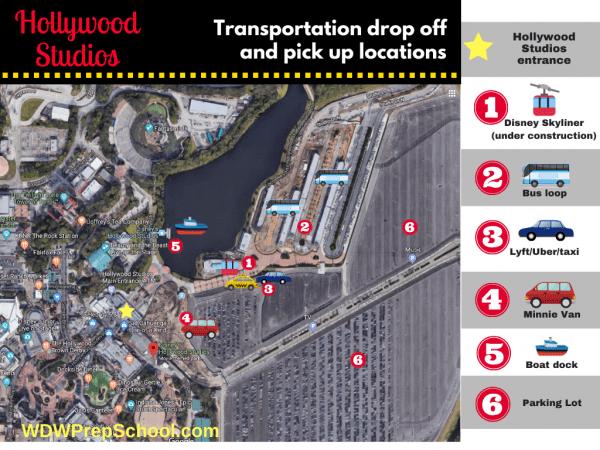 Hollywood Studios transportation map