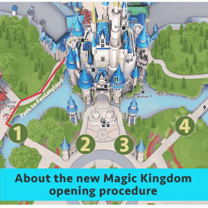 about the new magic kingdom opening procedure