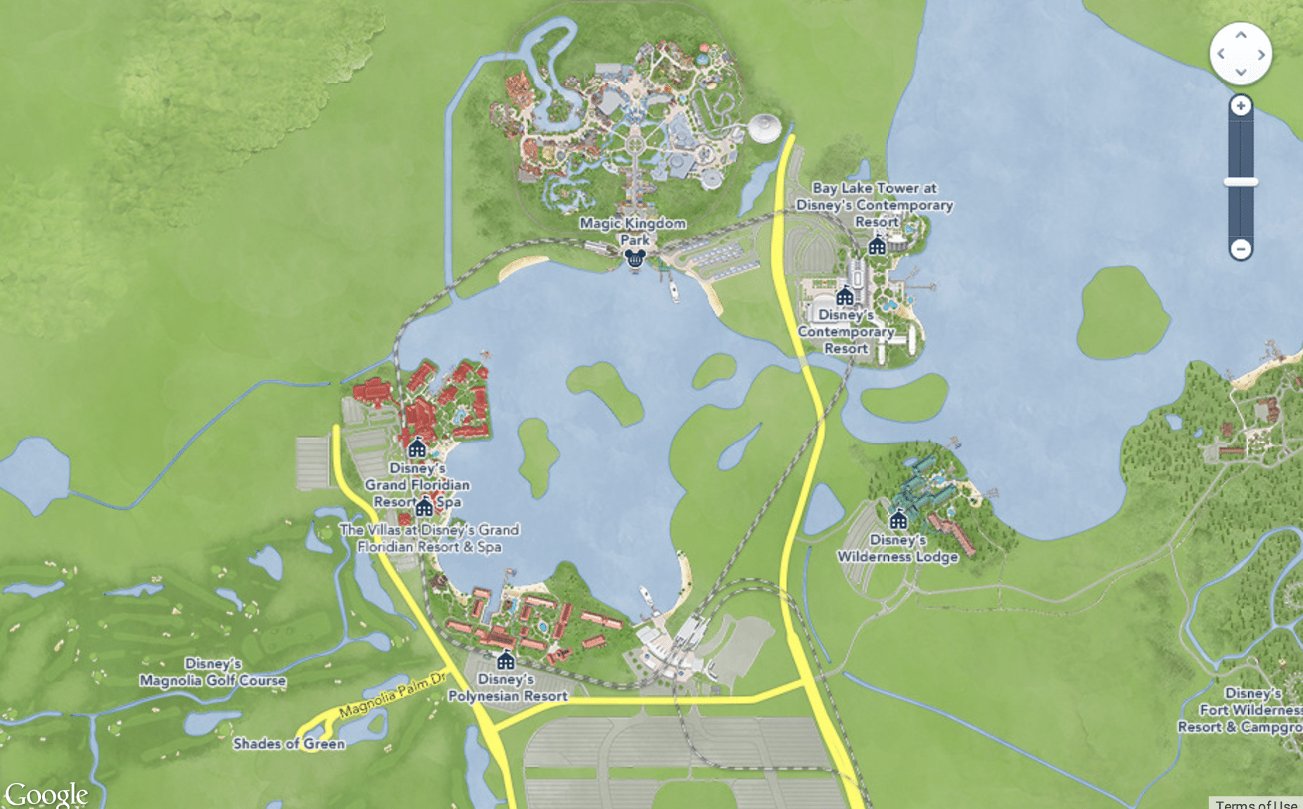 monorailloopmap - How to tour Disney World resorts (even if you're not staying there)