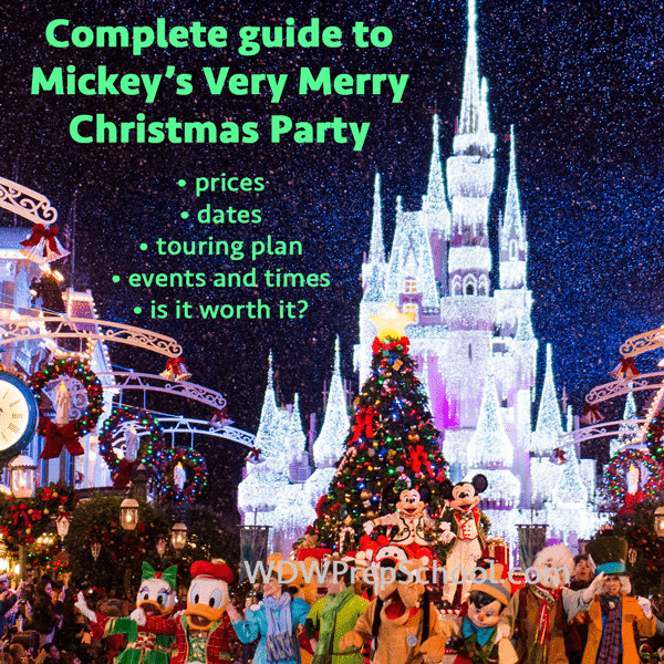 2018 mickeys very merry christmas party map best dates touring plan