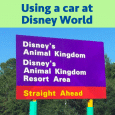 Using a car at Disney World