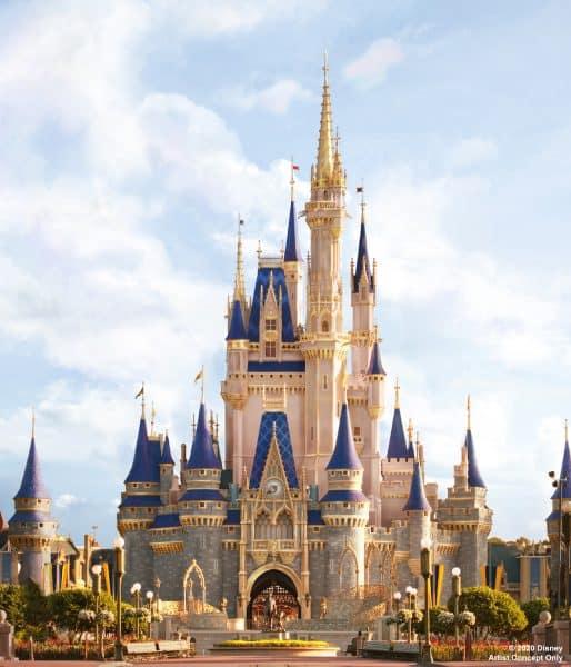 Concept art for 2020 Cinderella Castle makeover