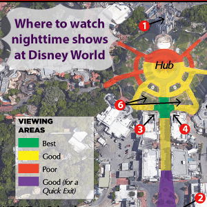 The Best Nighttime Show And Fireworks Viewing Spots At Disney World
