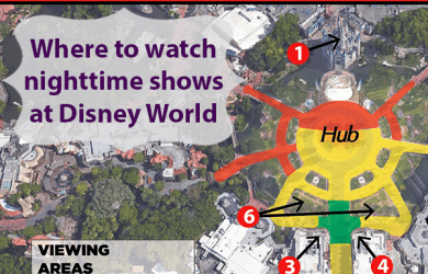 nighttimeshowssquare 390x250 - The best nighttime show and fireworks viewing spots at Disney World