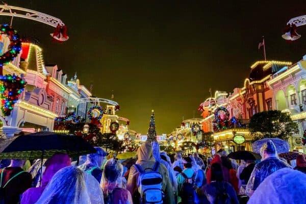 December at Disney World rain