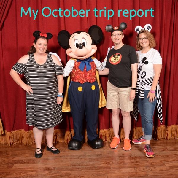 My October Trip report
