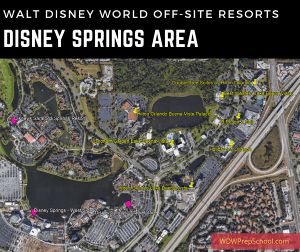 Disney Springs Resort Area Map