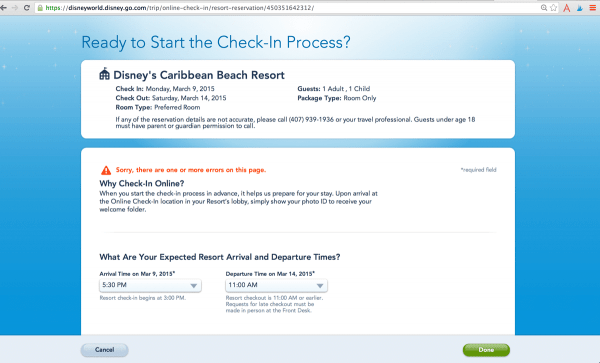 onlinecheckin 600x363 - How to get the Disney World resort room you want