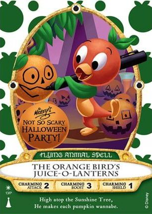 Orange Bird Halloween Sorcerers of the Magic Kingdom Card