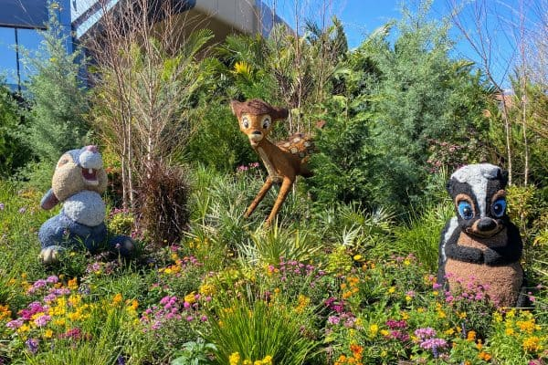 Bambi and Friends topiaries