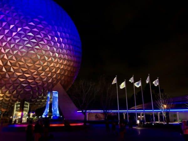 Spaceship Earth lights