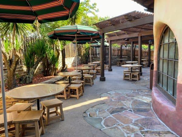 Pecos Bill outdoor dining area