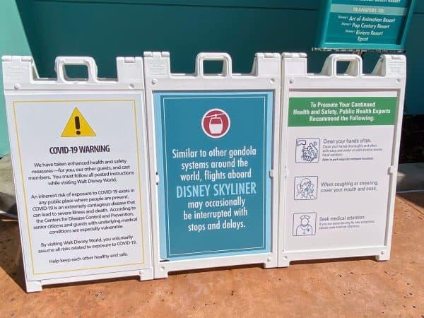 Safety signage at Disney World