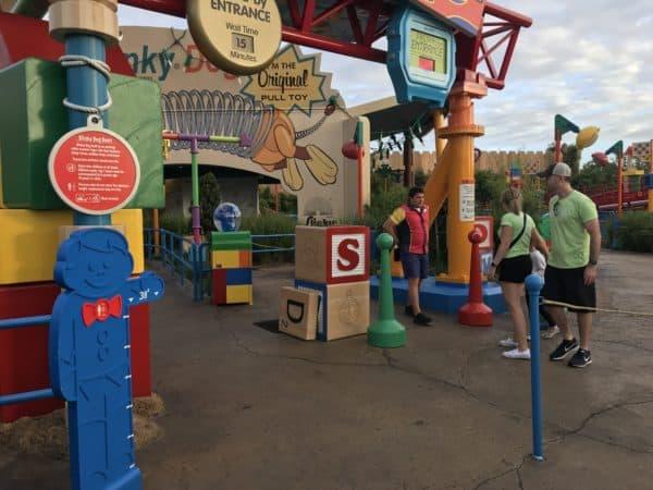 Slinky Dog Dash entrance