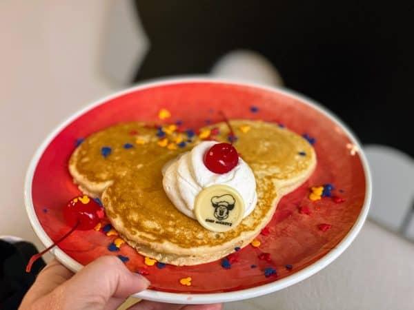 Chef Mickey's Mickey head pancakes