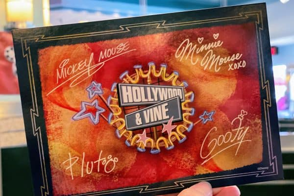 Hollywood and Vine card