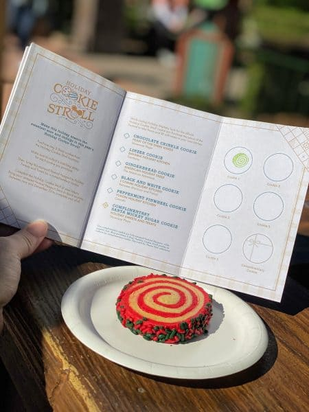 Epcot Festival of the Holidays Cookie Stroll book with stamp