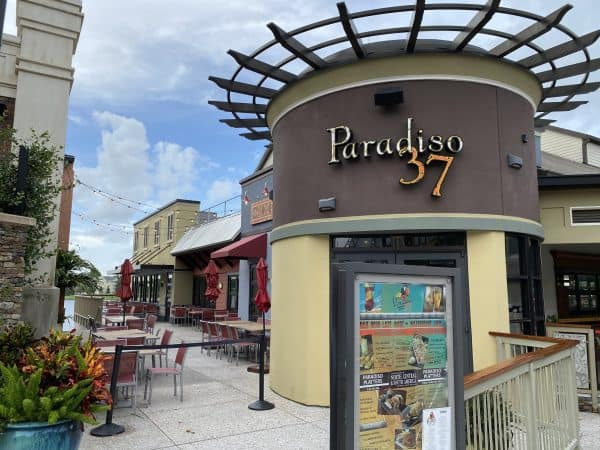Outdoor seating at Paradiso 37 in Disney Springs