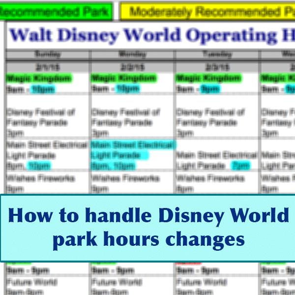 park hour changes header