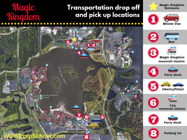 Magic Kingdom transportation options