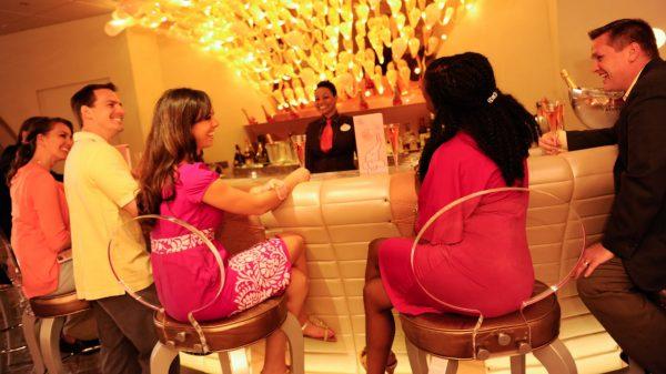Pink: Wine & Champagne Bar on Disney Cruise Line