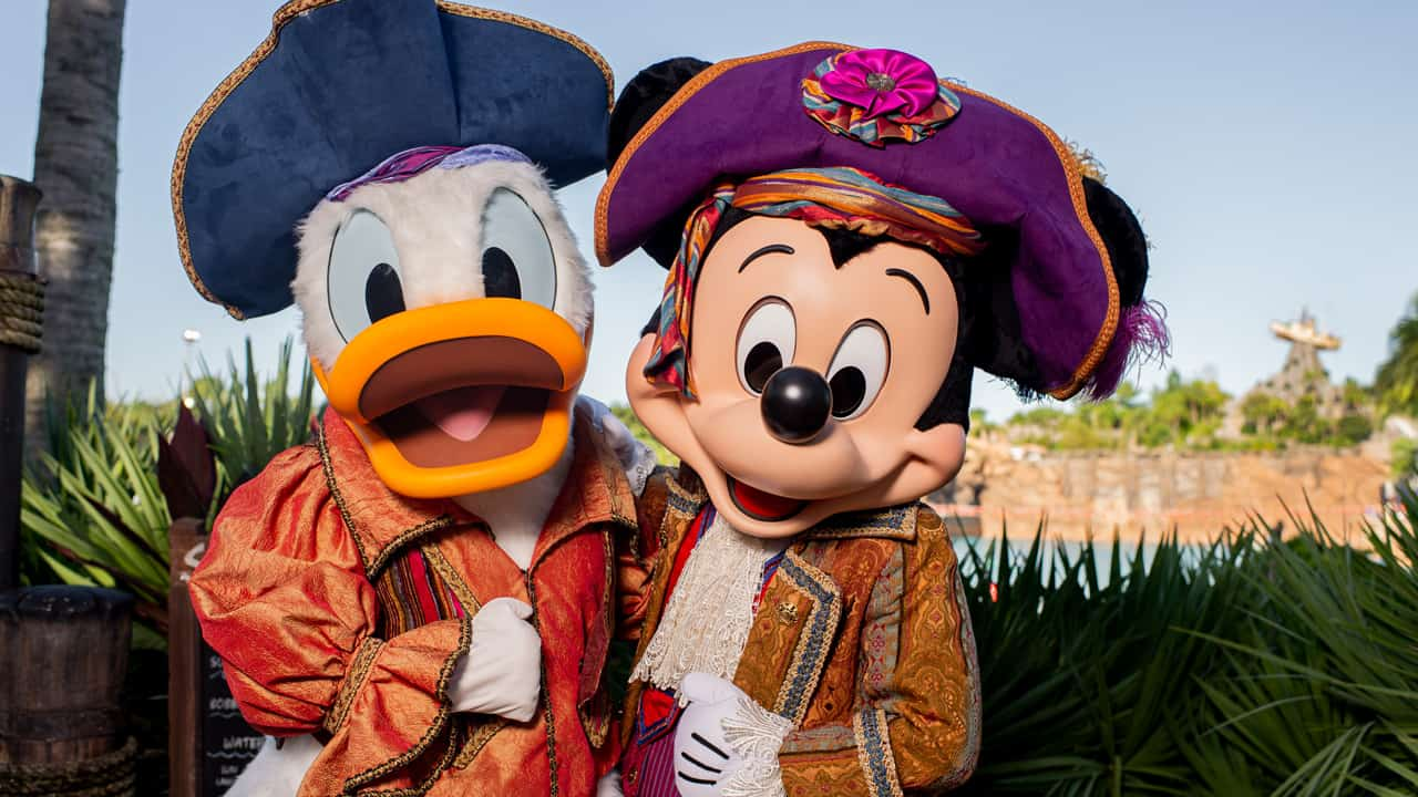 Pirate Donald and Mickey