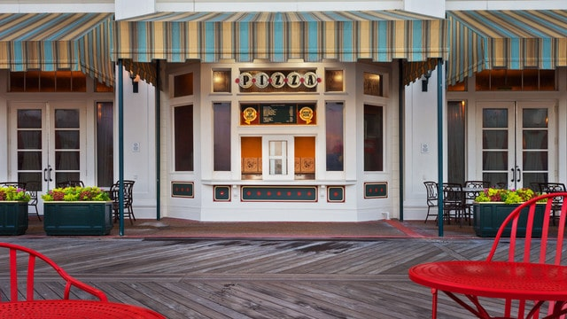 The pros and cons of all Epcot-area restaurants - Boardwalk Pizza Window (lunch)