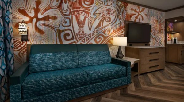 moana room at polynesian with day bed