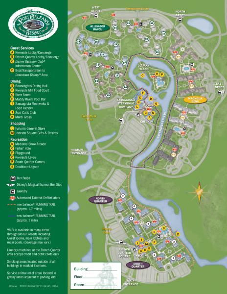 Port Orleans Riverside map