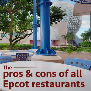 Pros And Cons Of Every Epcot Restaurant - Epcot table service