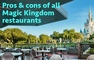 prosconsmkrestaurants 390x250 - Pros and cons of all Magic Kingdom restaurants