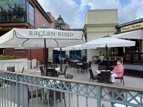 Raglan Road in Disney Springs has outdoor seating