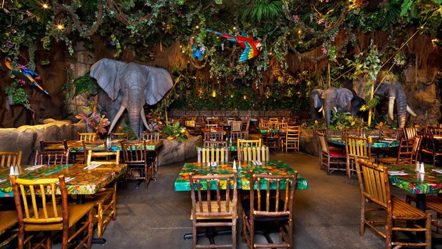 rainforest cafe downtown disney gallery01 - Flame Tree Barbecue (lunch)
