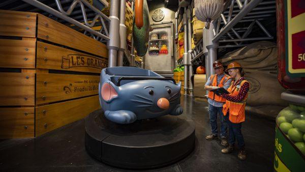 Remy's Ratatouille Adventure vehicle car at Epcot