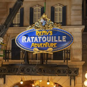 Remy's Ratatouille Adventure sign in Epcot