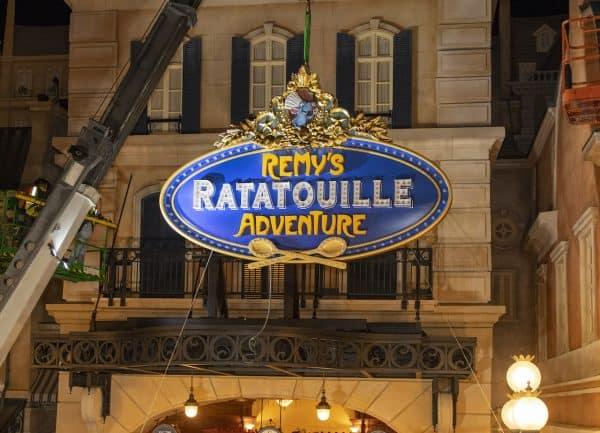Remy's Ratatouille Adventure sign in Epcot