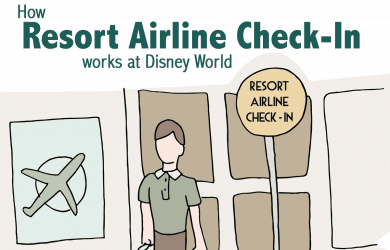 resortairlinecheckin 1 390x250 - How Resort Airline Check-In at Disney World works