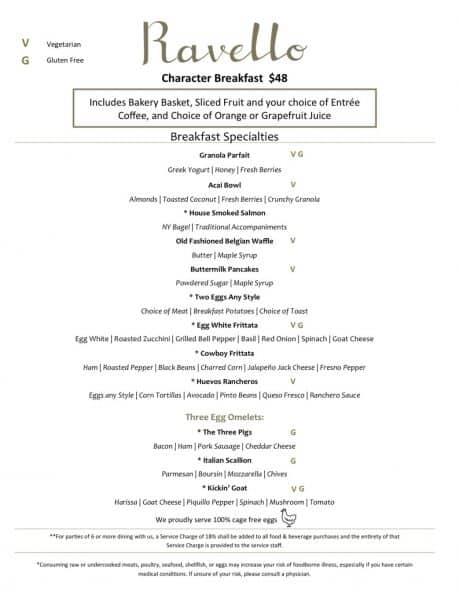 Ravello menu