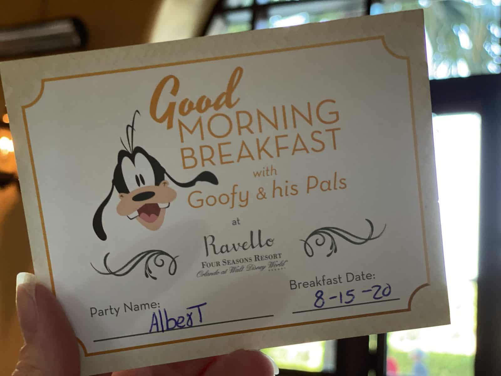 Good morning breakfast card