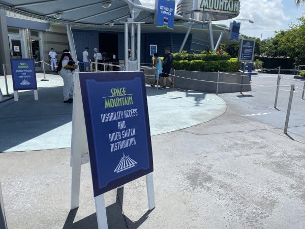 Rider Switch and Disability Access Service at Space Mountain