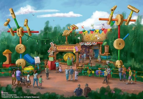 Concept art for Roundup Rodeo BBQ coming to Toy Story Land
