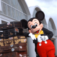 Mickey Mouse with luggage