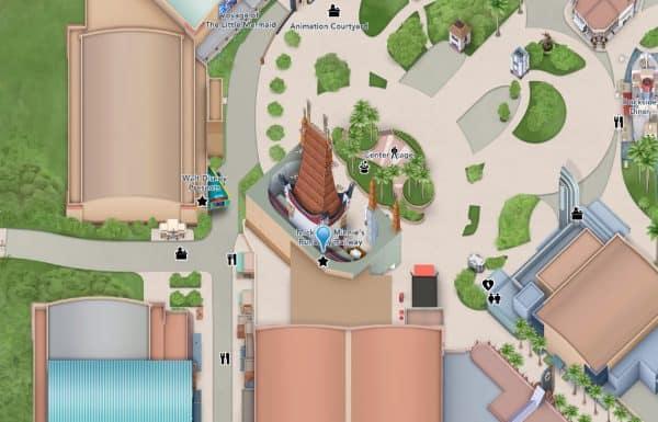 runaway railway map location at hollywood studios