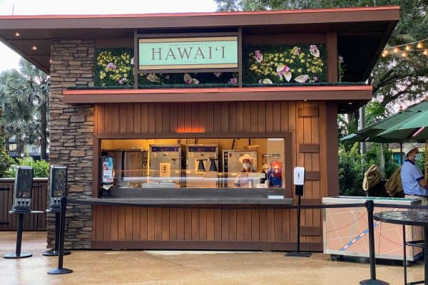 September at Disney World Hawaii Food and Wine Booth