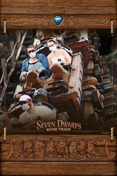 seven dwarfs mine train photopass photo