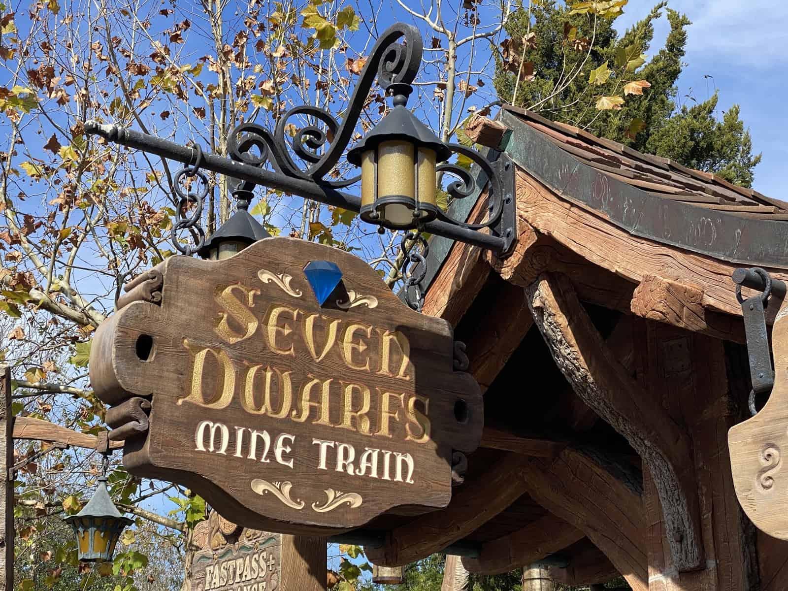 seven dwarf mine train at magic kingdom