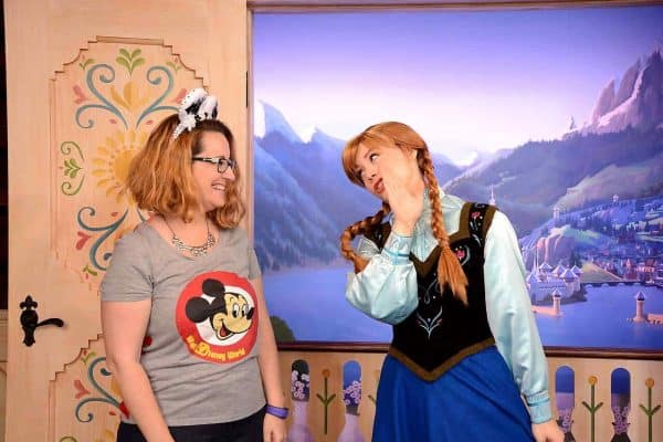 Anna and Elsa at Disney World